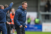 Exeter City Manager Matt Taylor  during the EFL Sky Bet League 2 match between Exeter City and Forest Green Rovers at St James' Park, Exeter, England on 12 October 2019.