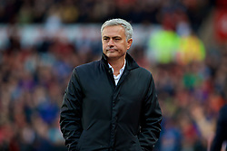 STOKE-ON-TRENT, ENGLAND - Saturday, September 9, 2017: Manchester United's manager Jose Mourinho during the FA Premier League match between Stoke City and Manchester United at the Bet365 Stadium. (Pic by David Rawcliffe/Propaganda)