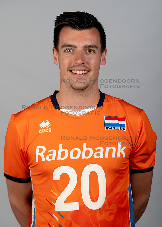 14-05-2018 NED: Team shoot Dutch volleyball team men, Arnhem<br /> Stijn Held #20 of Netherlands