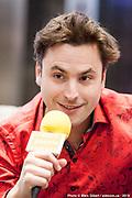 Jean-Philippe Sylvestre, pianiste. Portrait en direct lors de l'émission radiophonique Francophonie Express  à  Le Mount Stephen / Montreal / Canada / 2019-04-08, Photo © Marc Gibert / adecom.ca