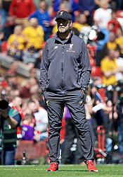 LIVERPOOL, ENGLAND - Sunday, May 12, 2019: Liverpool's manager Jürgen Klopp before the final FA Premier League match of the season between Liverpool FC and Wolverhampton Wanderers FC at Anfield. (Pic by David Rawcliffe/Propaganda)