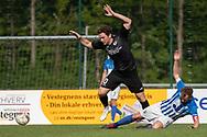 FODBOLD: Daniel Pless (Ballerup BK) og Casper Porsgaard (Hornbæk IF) under finalen i Seriepokalen mellem Hornbæk IF og Ballerup Boldklub den 20. maj 2019 på Brøndby Stadion. Foto: Claus Birch.