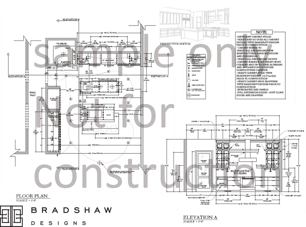 Plan before you build. Bradshaw Designs provides floor plans, elevations, 3D perspectives, renderings, samples, and specifications for your next project.