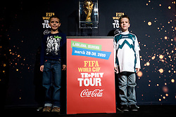 Young fans at VIP reception of FIFA World Cup Trophy Tour by Coca-Cola, on March 29, 2010, in BTC City, Ljubljana, Slovenia.  (Photo by Vid Ponikvar / Sportida)