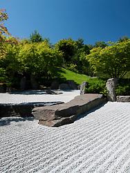 The Japanese Garden at the Garten der Welt in Marzahn district of Berlin Germany