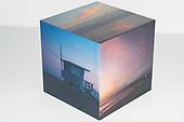 Pastel Pink Sunsets Photo Cube