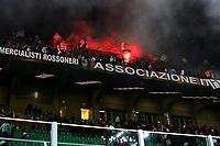 Milano - 28.09.2017 - Milan-Rijeka - Europa League   - nella foto: il lancio di petardi da parte dei tifosi Croati del Rijeka