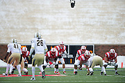 DALLAS, TX - DECEMBER 7: Neal Burcham #12 of the SMU Mustangs calls for the ball against the Central Florida Knights on December 7, 2013 at Gerald J. Ford Stadium in Dallas, Texas.  (Photo by Cooper Neill) *** Local Caption *** Neal Burcham