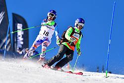 KUBACKA Marek, Guide: ZATOVICOVA Maria, B1, SVK, Slalom at the WPAS_2019 Alpine Skiing World Cup, La Molina, Spain