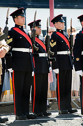 Freedom Parade 3rd Battalion The Yorkshire Regiment Barnsley South Yorkshire LEFT Colour Sgt Egbury  22 June 2010 .Images © Paul David Drabble.