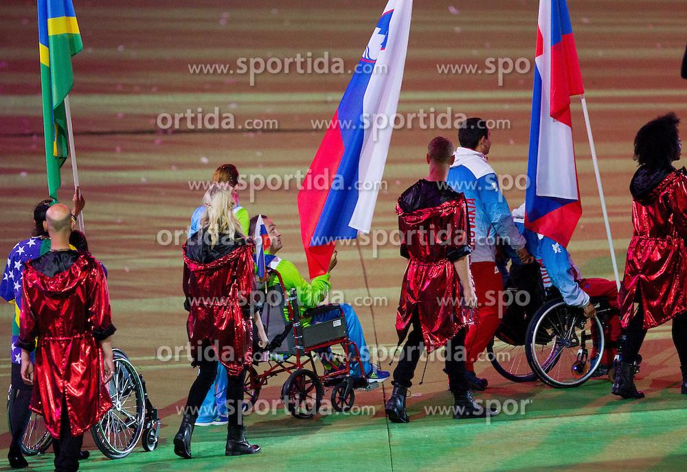 Sasa Kotnik and Gorazd Francek Tirsek of Slovenia during the closing ceremony of the London 2012 Paralympic Games on September 9, 2012, in Olympics stadium, Stratford, London, Great Britain. (Photo by Vid Ponikvar / Sportida.com)