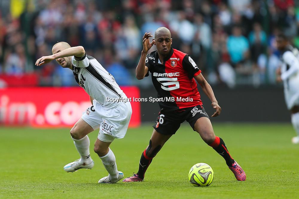Gelson FERNANDES / Lionel MATHIS - 12.04.2015 - Rennes / Guingamp - 32eme journee de Ligue 1 <br /> Photo : Vincent Michel / Icon Sport