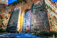 """Entrance to the Etruscan bastion in Montepulciano""...<br />