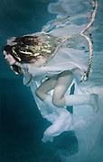 Underwater portrait of Karen. Gold make up and gold strips in her hair courtesy of Gillian Elizabeth Make-up artist.