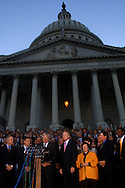 A 8.42 MG IMAGE OF:.Washington, DC 9/11/01 The House and Senate leadership show their support to the stability of the U.S. government.phOto by Dennis Brack