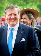 ROSTOCK WARNEMUNDE - King Willem-Alexander and Queen Maxima arrive at shipyard MV Werften. The royal couple makes a three-day visit to the German states of Mecklenburg-Vorpommern and Brandenburg. robin utrecht