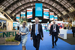 © Licensed to London News Pictures . 02/10/2017. Manchester, UK. Chancellor PHILIP HAMMOND at the conference centre , at the start of the second day of the Conservative Party Conference at the Manchester Central Convention Centre . Photo credit: Joel Goodman/LNP