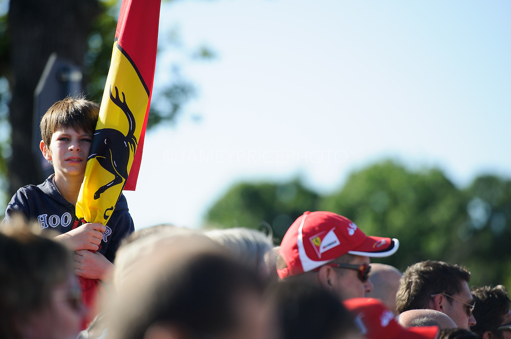 September 3-5, 2015 - Italian Grand Prix at Monza: Young Ferrari fan