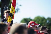 September 3-5, 2015 - Italian Grand Prix at Monza: Young Ferrari fan
