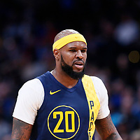 03 April 2018: Indiana Pacers forward Trevor Booker (20) is seen during the Denver Nuggets 107-104 victory over the Indiana Pacers, at the Pepsi Center, Denver, Colorado, USA.