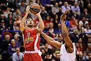 DESCRIZIONE : Milano Eurolega Euroleague 2014-15 EA7 Emporio Armani Milano Olympiacos Piraeus<br /> GIOCATORE : Kostas Sloukas<br /> CATEGORIA : tiro three points<br /> SQUADRA : Olympiacos Piraeus<br /> EVENTO : Eurolega Euroleague 2014-2015<br /> GARA : EA7 Emporio Armani Milano Olympiacos Piraeus<br /> DATA : 06/03/2015<br /> SPORT : Pallacanestro <br /> AUTORE : Agenzia Ciamillo-Castoria/Max.Ceretti<br /> Galleria : Eurolega Euroleague 2014-2015<br /> Fotonotizia : Milano Eurolega Euroleague 2014-15 EA7 Emporio Armani Milano Olympiacos Piraeus<br /> Predefinita :