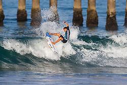 Kei Kobayashi (USA) advances to Round 2 of the 2018 VANS US Open of Surfing after winning Heat 1 of Round 1 at Huntington Beach, California, USA.