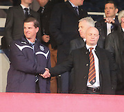 Dundee investor Tim Keyes and Dundee United chairman Stephen Thompson - Dundee v Dundee United - SPFL Premiership at Dens Park<br /> <br />  - &copy; David Young - www.davidyoungphoto.co.uk - email: davidyoungphoto@gmail.com