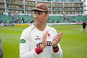Marcus Trescothick of Somerset on the parade around the County Ground after his teams win over Nottinghamshire the Specsavers County Champ Div 1 match between Somerset County Cricket Club and Nottinghamshire County Cricket Club at the Cooper Associates County Ground, Taunton, United Kingdom on 22 September 2016. Photo by Graham Hunt.