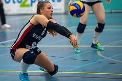 21-04-2019 NED: VC Sneek - Sliedrecht Sport, Sneek<br /> Final Round 2 of 5 Eredivisie volleyball - Sliedrecht Sport win 3-0 / Fleur Savelkoel #6 of Sliedrecht Sport