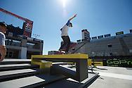 Shane O'neill during Street League Skate Practice at 2013 X Games Los Angeles in Los Angeles, CA. ©Brett Wilhelm/ESPN