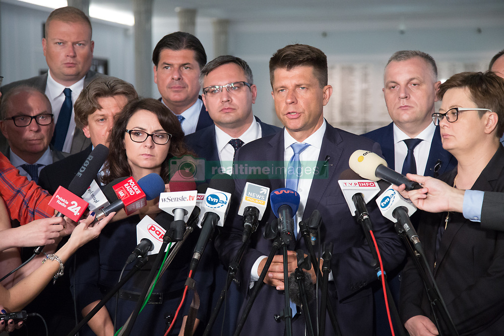 July 20, 2017 - Warsaw, Poland - Press conference of opposition Nowoczesna party at lower house of Polish Parliament (Sejm) in Warsaw, Poland on 19 July 2017  (Credit Image: © Mateusz Wlodarczyk/NurPhoto via ZUMA Press)