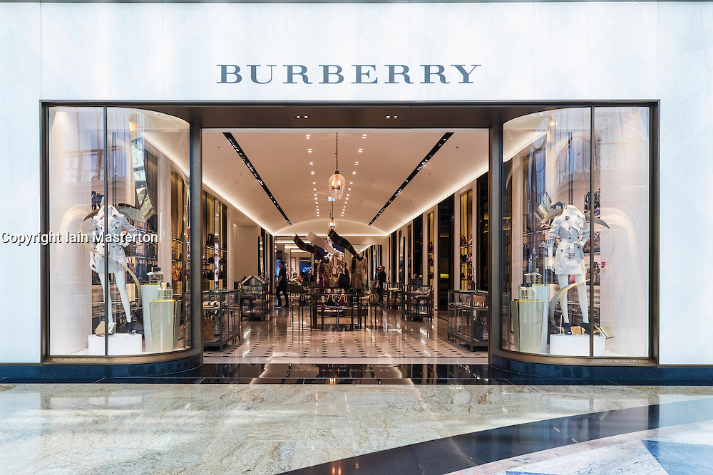 View of Burberry store in Mall of the Emirates in Dubai United Arab Emirates