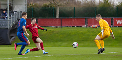 LIVERPOOL, ENGLAND - Monday, February 24, 2020: Liverpool's Liam Millar scores the first goal during the Premier League Cup Group F match between Liverpool FC Under-23's and AFC Sunderland Under-23's at the Liverpool Academy. (Pic by David Rawcliffe/Propaganda)