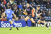 Henry Pyrgos on the break during the Guinness Pro 14 2018_19 match between Edinburgh Rugby and Dragons Rugby at Murrayfield Stadium, Edinburgh, Scotland on 15 February 2019.