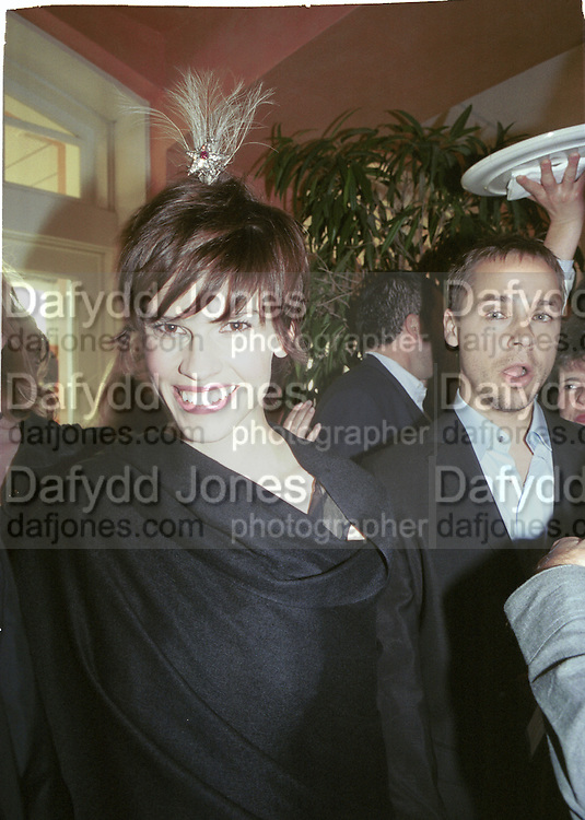 Hilary Swank. Boy's Don't Cry party. Pedals at Shutters on the Beach. Santa Monica. 25 March 2000 © Copyright Photograph by Dafydd Jones 66 Stockwell Park Rd. London SW9 0DA Tel 020 7733 0108 www.dafjones.com