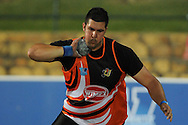 STELLENBOSCH, South Africa - Monday 15 April 2013, Jaco Engelbrecht of UJ in the mens shot put during the Varsity Athletics meeting at the University of Stellenbosch's Coetzenburg stadium..Photo by Roger Sedres/ ImageSA