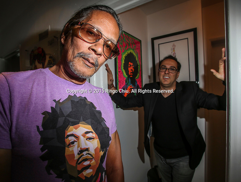 Leon Hendrix, left, brother of Jimi Hendrix and founder/owner of Purple Haze Properties; and Andrew Pitsicalis, CEO of Purple Haze Properties.(Photo by Ringo Chiu/PHOTOFORMULA.com)