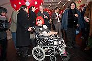 YAHOI KUSAMA, Yayoi Kusama opening. Tate Modern. London. 7 February 2012