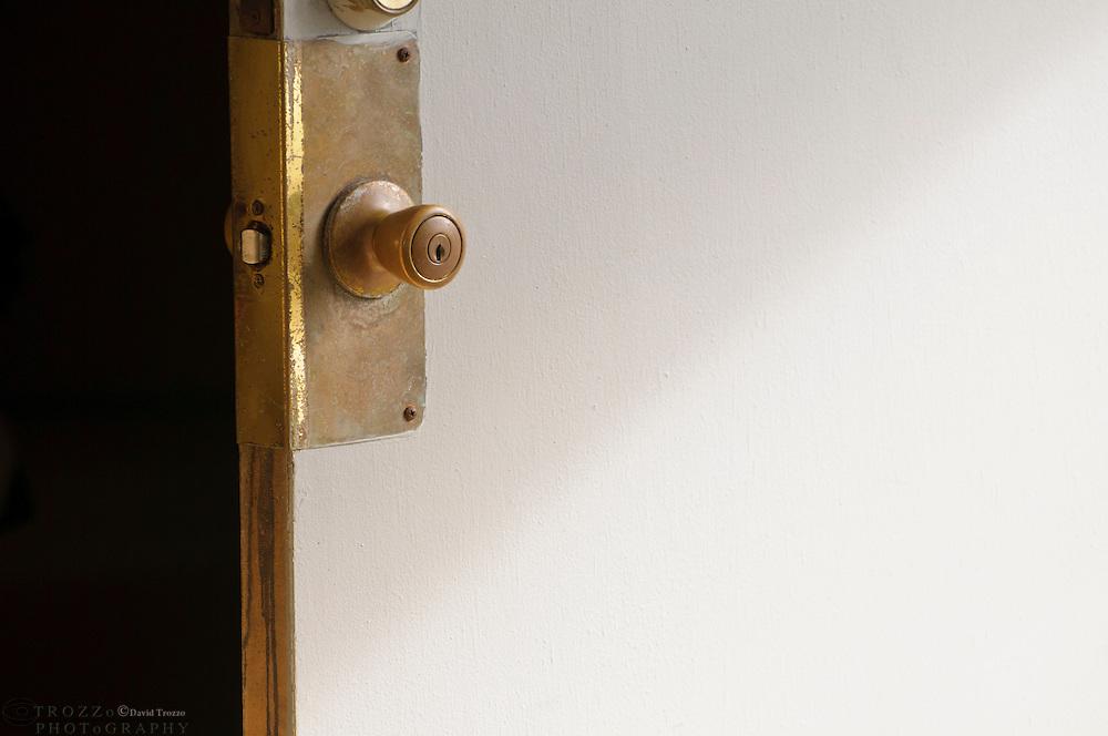 Open, unlocked door.