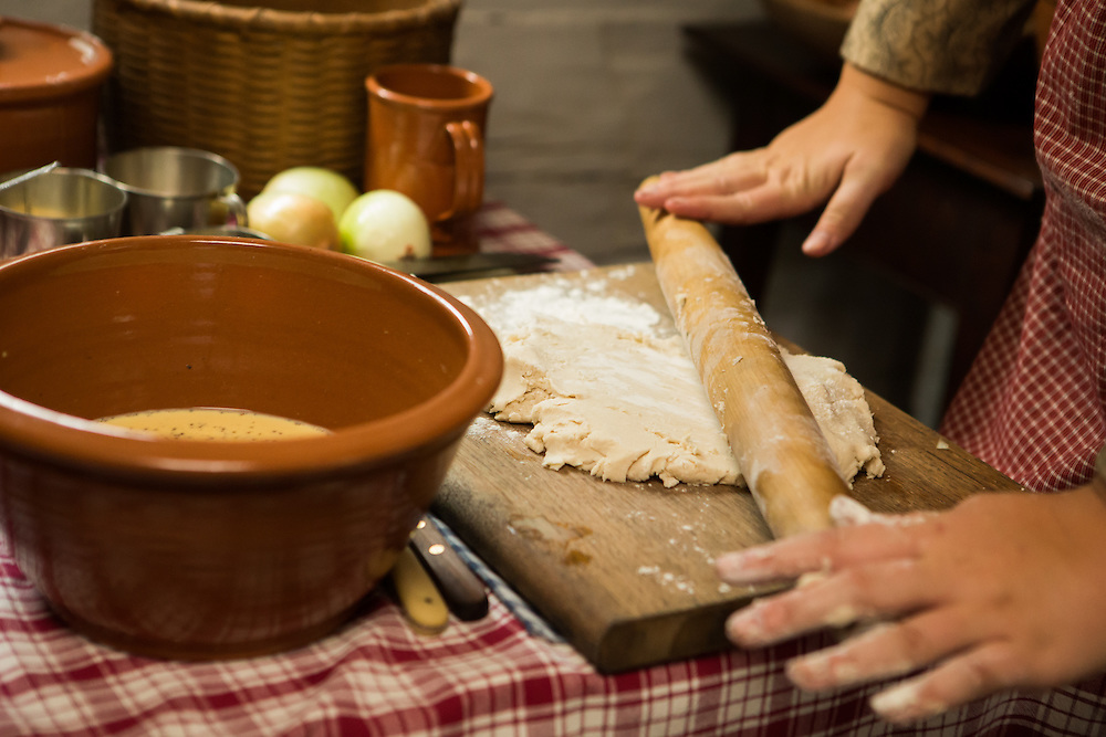 Demonstrating how they cooked in the 19th century during Fall Flavors at Greenfield Village