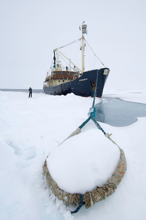 Expedition ship &quot;Stockholm&quot;<br /> Pack ice<br /> Svalbard<br /> Norway