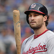 NEW YORK, NEW YORK - July 08: Daniel Murphy #20 of the Washington Nationals preparing to bat during the Washington Nationals Vs New York Mets regular season MLB game at Citi Field on July 08, 2016 in New York City. (Photo by Tim Clayton/Corbis via Getty Images)