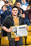 Wolverhampton Wanderers fan during the EFL Sky Bet Championship match between Wolverhampton Wanderers and Middlesbrough at Molineux, Wolverhampton, England on 5 August 2017. Photo by Alan Franklin.