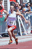 SO Poland athlete Ilona Brzechwa competes at athletics relay 4 x 100 meters during eighth day of the Special Olympics World Games Los Angeles 2015 on August 1, 2015 at Loker Stadium on USC (University of Southern California) in Los Angeles, USA.<br /> USA, Los Angeles, August 1, 2015<br /> <br /> Picture also available in RAW (NEF) or TIFF format on special request.<br /> <br /> For editorial use only. Any commercial or promotional use requires permission.<br /> <br /> Adam Nurkiewicz declares that he has no rights to the image of people at the photographs of his authorship.<br /> <br /> Mandatory credit:<br /> Photo by © Adam Nurkiewicz / Mediasport