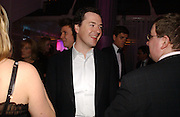 George  Osborne. The Black and White Winter Ball. Old Billingsgate. London. 8 February 2006. -DO NOT ARCHIVE-© Copyright Photograph by Dafydd Jones 66 Stockwell Park Rd. London SW9 0DA Tel 020 7733 0108 www.dafjones.com