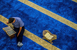 June 12, 2017 - SâO Paulo, São paulo, Brazil - SAO PAULO SP, SP 06/12/2017 RAMADAN: Muslims participate in prayer that precedes the breaking of the fast during Ramadan, the sacred month of Islam, in the Mesquita Brasil, in São Paulo. In this period, the faithful can not eat, drink or have sex between sunrise and sunset  (Credit Image: © Cris Faga via ZUMA Wire)