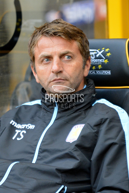 Aston Villa manager Tim Sherwood during the Pre-Season Friendly match between Wolverhampton Wanderers and Aston Villa at Molineux, Wolverhampton, England on 28 July 2015. Photo by Alan Franklin.
