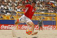 Football-FIFA Beach Soccer World Cup 2006 - Quarter Finals, Argentina - Uruguay, Beachsoccer World Cup 2006. Uruguay's Pampero - Rio de Janeiro - Brazil 09/11/2006. Mandatory credit: FIFA/ Manuel Queimadelos
