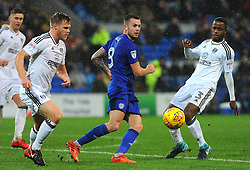 Joe Bennett of Cardiff City blocks Ryan Sessegnon of Fulham's shot- Mandatory by-line: Nizaam Jones/JMP- 26/12/2017 -  FOOTBALL - Cardiff City Stadium - Cardiff, Wales -  Cardiff City v Fulham - Sky Bet Championship