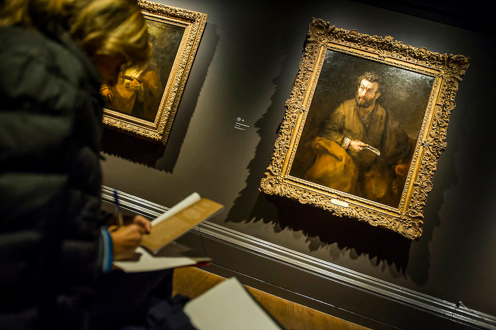 The Apostles Simon and Bartholomew - Rembrandt: The Late Works, a new  exhibition sponsored by Shell - the first ever in-depth exploration of Rembrandt's final years of painting. It features 'unprecedented' loans from around the world and is an opportunity to experience the 'passion, emotion and innovation' of the great master of the Dutch Golden Age.  The exhibition runs from 15 October 2014 - 18 January 2015